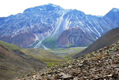 Mountain View, Mountain View, Mountain View, altamente acima, o Lago Baikal, shumack, acampamento, viajando, montanhas, rochas, c imagens de stock