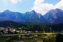 Mountain view. The view of the mountains in spring Royalty Free Stock Photo