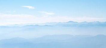 Mountain view from Mt Fuji Fujimomiya 5th Station Royalty Free Stock Photography