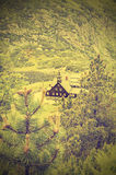 Mountain view, nature vintage style. Royalty Free Stock Photo