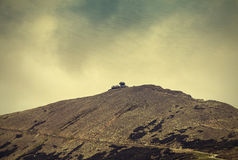 Mountain view, nature vintage textured background. Royalty Free Stock Photography
