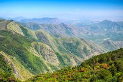 Mountain view near Kodaikanal, India Royalty Free Stock Photo