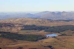 Mountain View nebuloso de Moelwyn Fotografía de archivo