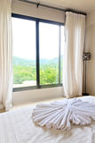 Mountain view of nice bedroom Royalty Free Stock Photos
