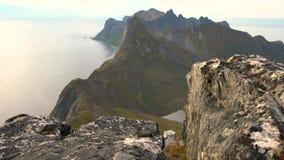 Mountain View no condado de Troms video estoque
