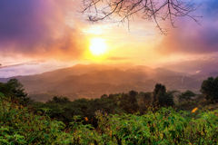 Mountain View no nascer do sol Fotografia de Stock Royalty Free