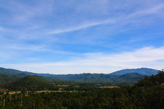 Mountain view. Of the north of thailand Royalty Free Stock Images