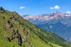 Mountain view in Northern Italy. Royalty Free Stock Images