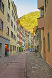 Mountain view in the Old Town of Chur Royalty Free Stock Photography