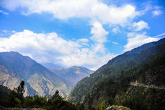 Mountain view at one of the place in Nepal Royalty Free Stock Photos