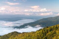 Mountain view over appalachian mountains royalty free stock images