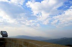 Mountain View panorámico de Tibidabo Imagen de archivo libre de regalías