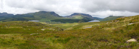 Mountain view panorama, Snowdonia Stock Photos