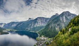 Mountain View panoramico in Austria vicino a Halberstatt Immagine Stock Libera da Diritti