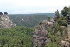 Mountain View-Park Bastei Lizenzfreie Stockfotos