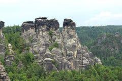 Mountain View Park Bastei. In Saxon Switzerland Stock Photos