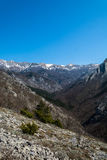 Mountain. View on the peaks of Velebit mountain still covered in snow in early spring. Located in national park Paklenica Stock Photo