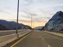 Mountain View pendant le coucher du soleil photo stock
