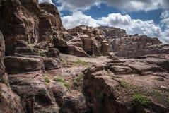 Mountain View Petra Джордана Стоковое Фото