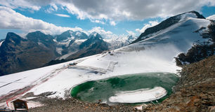 Mountain view from Piz Corvatsch. Near St. Moritz, Switzerland Royalty Free Stock Images