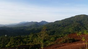 Mountain view point at Talay mok Krungching Stock Images