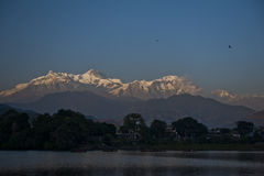 Mountain view at Pokhara Nepal. Pokhara Nepal view Stock Photo