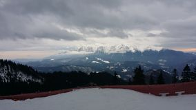 Carpathian Mountains. Mountain view in Postavarul resort Royalty Free Stock Image