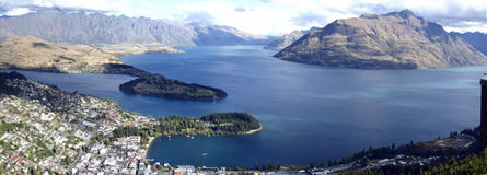 Mountain view of Queenstown. New Zealand Royalty Free Stock Image