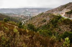 Mountain View Queenstown, Tasmanien, Australien royaltyfria foton