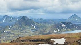 Mountain View, réserve naturelle de Fjallabak, Islande Photos stock