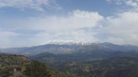 Mountain. View of a a mountain range in Crete Royalty Free Stock Photos