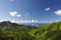 Mountain view of Rarotonga, Cook Islands Stock Photography