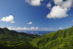 Mountain view of Rarotonga, Cook Islands Royalty Free Stock Photography