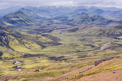 Mountain View, reserva de naturaleza de Fjallabak, Islandia Fotos de archivo