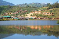 Mountain view resort. Lovely mountain view resort at thai rak thai village, maehongsorn Stock Photos
