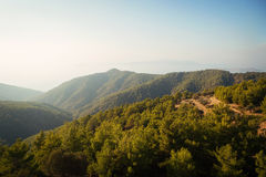 Mountain View of Rhodes, Greece Royalty Free Stock Images