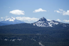 Mountain View from the Rim of Crater Lake Royalty Free Stock Photo