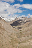 Mountain view on the road to Nubra Valley,India. Royalty Free Stock Photo