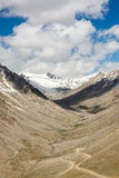Mountain view on the road to Nubra Valley,India. Royalty Free Stock Photos