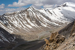 Mountain view on the road to Nubra Valley,India. Royalty Free Stock Image