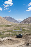 Mountain view on the road to Pangong Lake in Ladakh,India. Royalty Free Stock Photo