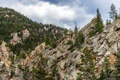 Mountain View rocciosi della foresta nazionale di San isabel in colorado Fotografie Stock Libere da Diritti