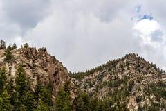 Mountain View rocciosi della foresta nazionale di San isabel in colorado Immagine Stock Libera da Diritti
