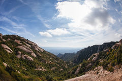 Mountain View. With rocks and greenery royalty free stock photos