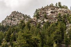 Mountain View rocosos del bosque del Estado de San Isabel en Colorado Imagen de archivo libre de regalías