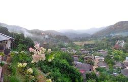 Mountain View rosado de la flor de papel y Fotografía de archivo libre de regalías
