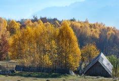 Mountain View rural del otoño Imagen de archivo libre de regalías