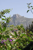 MOUNTAIN VIEW SCENE LOCATED IN CYPRUS Royalty Free Stock Image
