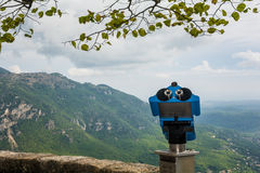 Mountain View scenico dall'allerta in Eze Francia Fotografia Stock Libera da Diritti