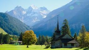 Mountain View Schweizer Alpen Lizenzfreies Stockbild
